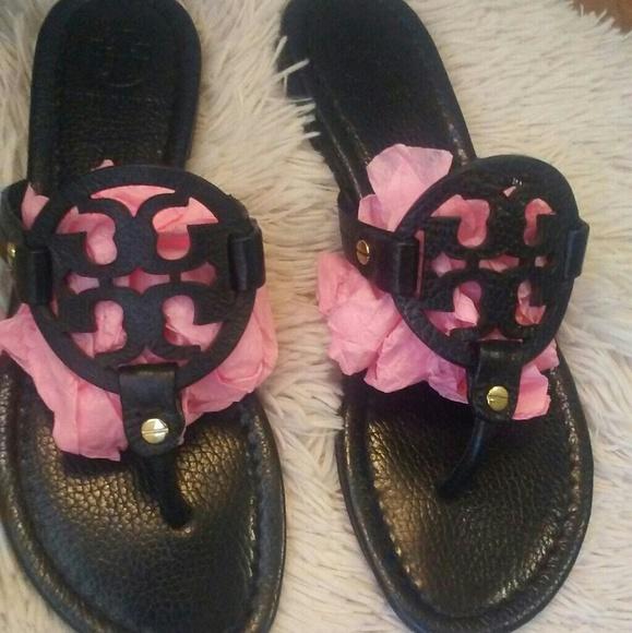 362cc8f6d78 Tory Burch Shoes - Tory Burch Miller sandals black size 7